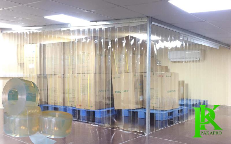 Rèm nhựa pvc trong suốt ngăn kho xưởng