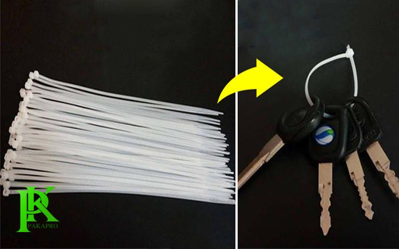 Dây rút nhựa móc chìa khóa