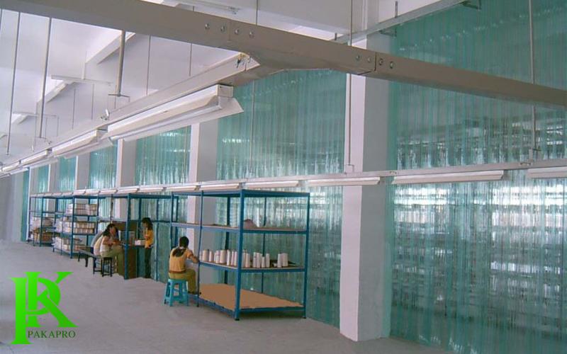 Màn nhựa pvc chống tĩnh điện khu xưởng